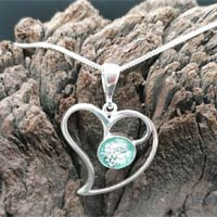 Eternity Ashes in Glass Silver Heart Pendant
