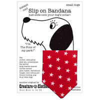 Dog Bandana Red Star Print