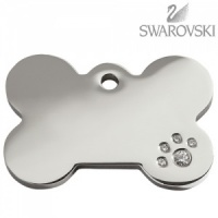 Swarovski Diamante Dog Tag - Large Bone