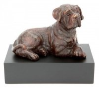 Dudley Bronze Dog Sculpture Urn