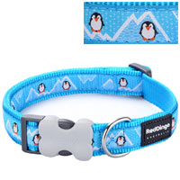 Christmas Dog Collar - Penguin Turquoise