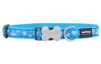 Christmas Dog Collar - Snowflake Turquoise