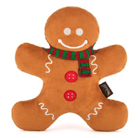 Christmas Dog Toy - Gingerbread Man