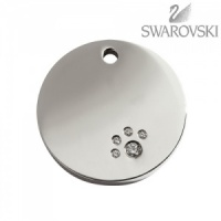 Swarovski Diamante Dog Tag - Small Circle