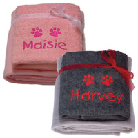 Dog Towel & Blanket Gift Set