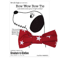 Dog Bow Tie - Red Star
