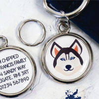 Dog Breed Pet Tag - Husky