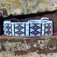 Turquoise Tribal Dog Collar