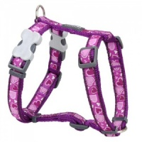 Red Dingo Dog Harness Breezy Love Purple