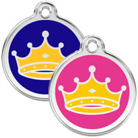 Large Dog ID Tag - King or Queen