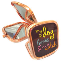 Dog Lover Compact Handbag Mirror