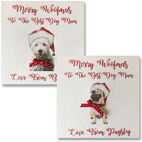 Dog Mum Dad Personalised Christmas Card