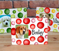 Personalised Ceramic Dog Photo Frame