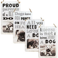 Your Photo Dog Slogan Sign
