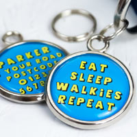 Dog Tag - Eat Sleep Walkies Repeat