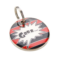 Small Dog ID Tag - Grrr