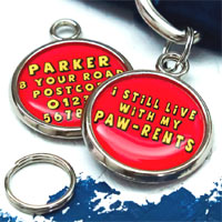 Pet Tag - I Still Live With My Paw-rents