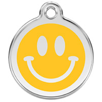 Large Dog ID Tag - Smiley Face
