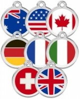 Medium Dog ID Tag - Flags