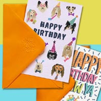 Edible Dog Birthday Cards