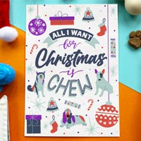 Edible Dog Christmas Card - Christmas Chew