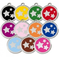 Small Dog ID Tag - Stars