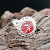 Eternity Ashes Frilled Edged Silver Ring
