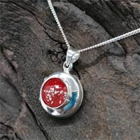 Eternity Ashes in Glass Silver Locket Necklace