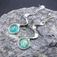 Eternity Ashes Silver Wave Drop Earrings