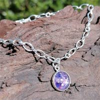 Glass Eternity Ashes Silver Bracelet