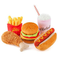 Fast Food Plush Dog Toys