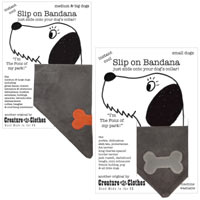 Faux Suede Grey Dog Bandanas