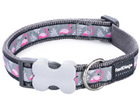 Red Dingo Dog Collar Flamingo