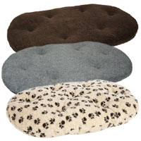 Oval Fleece Dog Cushion Pad