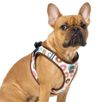 FuzzYard Step-in Dog Harness - Go Nuts for Donuts