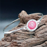 Glass Eternity Ashes Cubic Zirconia Bangle