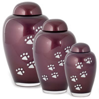 Glossop Glass Pet Ashes Urn - Wine
