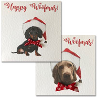 Happy Woofmas Dog Christmas Card