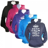 Unisex Slogan Hoodie - Keep Calm & Walk The Dog