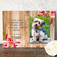 ''If Love Alone'' Photo Dog Memorial Plaque