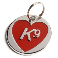 Dog ID Tag - K9 Red Heart