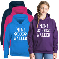 Kids Hoodie - Mini Dog Walker