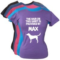 Women's Personalised T-Shirt - Dog Hair Provided By