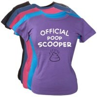 Women's Slogan T-Shirt - Official Poop Scooper