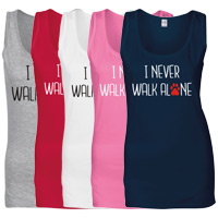 Women's Slogan Tank Top - I Never Walk Alone