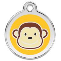 Large Dog ID Tag - Monkey