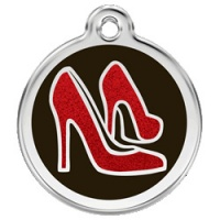 Glitter Red Shoes Dog ID Tag - Large