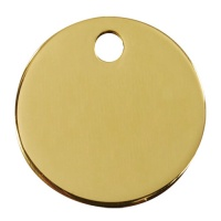 Plain Brass Dog Tag - Large Circle