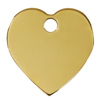 Plain Brass Dog Tag - Large Heart
