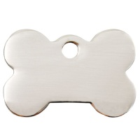 Plain Stainless Steel Dog Tag - Large Bone
